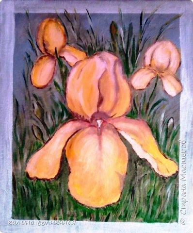 """Весна. Она близко. Новая картина """"Фиалки"""" написана акриловыми красками на плотной бумаге. Посмотрите и зарядитесь весенним настроением. фото 5"""
