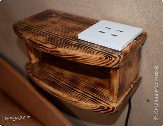 Прикроватная полочка для зарядки гаэжетов фото 9