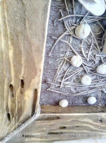 Брус, иголки еловые, ракушки, салфетки, ветка Ореховая,краски акриловые  фото 5