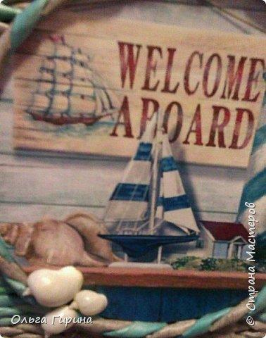 Приветствую всех жителей СМ,заглянувших ко мне на страничку!Сегодня я к вам с корзиной для белья.Давно хотелось корзину в морском стиле,но все никак не могла решить.что же должно получиться в итоге.И вот определилась)))) фото 7