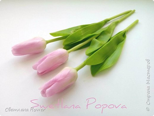 Весна!!! Тюльпаны из холодного фарфора фото 1