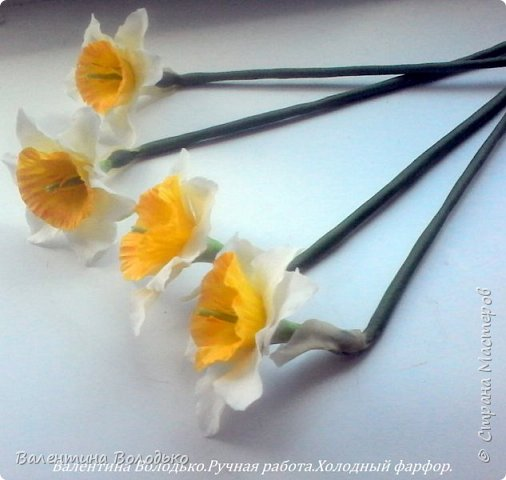 Добрый день мастера и мастерицы!!!!Сегодня я к вам с весенними цветами нарциссами.Очень надеюсь,что и весна нас побалует теплой погодой. фото 5