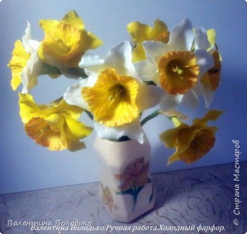 Добрый день мастера и мастерицы!!!!Сегодня я к вам с весенними цветами нарциссами.Очень надеюсь,что и весна нас побалует теплой погодой. фото 7