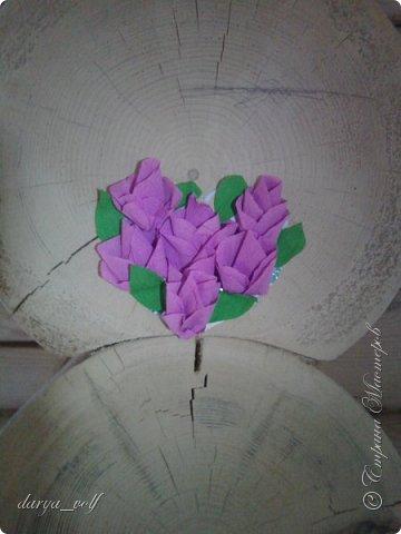 У меня накопилось несколько работ с цветами из гофрированной бумаги :) Так что делюсь с вами фото 5
