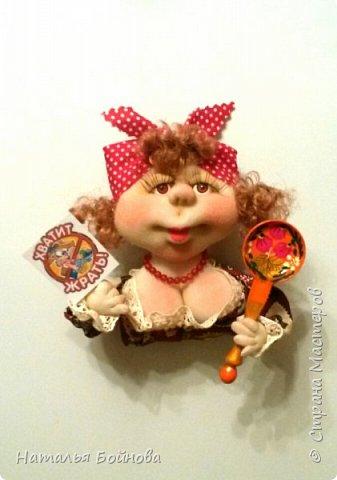 Небольшие текстильные куколки-магнит на холодильник  фото 3