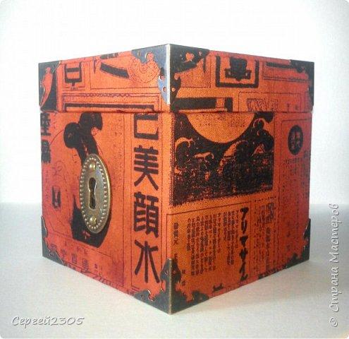 Моя первая квадратная коробочка с фурнитурой. фото 2