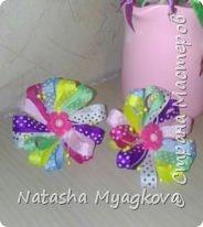 Немного бантиков резиночек. Черные бабочки для племянницы-первоклашки. фото 2