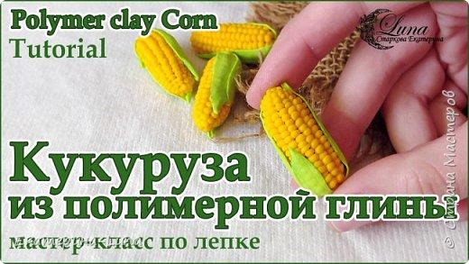 Кукуруза из полимерной глины