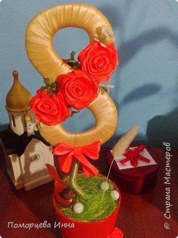 Вот такие подарочные топиарии делала к 8 марта,очень понравилось их творить.И спасибо Оксане Мокси за мастер-класс. фото 11