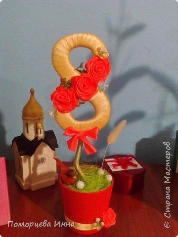 Вот такие подарочные топиарии делала к 8 марта,очень понравилось их творить.И спасибо Оксане Мокси за мастер-класс. фото 12
