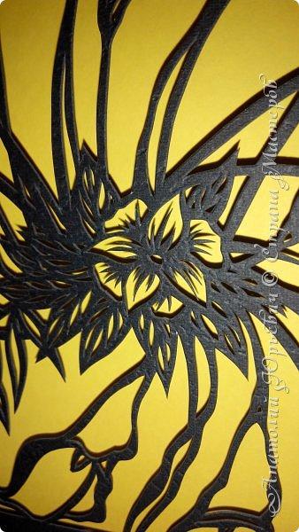 """Добрый день! Вашему вниманию новая открытка (по работе Светланы Прохоровой """"Цветочная композиция из белых калл"""" ) Эскиз нарисован, изменён и доработан под """"вырезалку"""". Размер 12х16см. фото 4"""