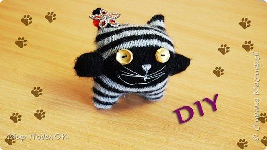 Мягкая игрушка своими руками - это просто! Посмотрите, как легко и быстро можно сделать забавного котенка из обычного носка.