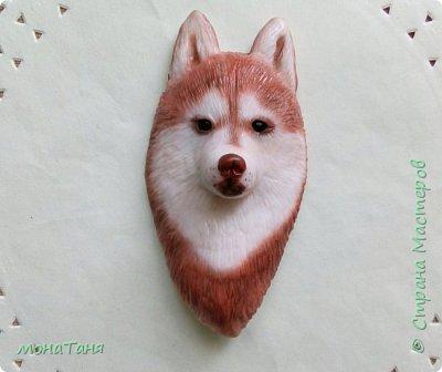 Добрый день! Сегодня я к Вам с собаками. Новая чашка декорированная полимерной глиной.  Очень понравился шоколадный хаски,  его и попробовала изобразить. Лепила собак по фото.  фото 2