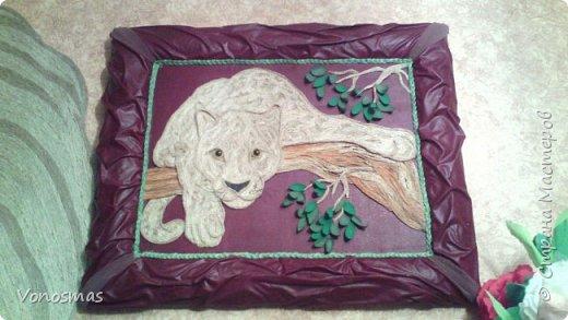 Всем привет. на ваш суд леопард из шпагата, кому интересно есть немного пошаговых фото. спасибо  что нашли время заглянуть фото 1