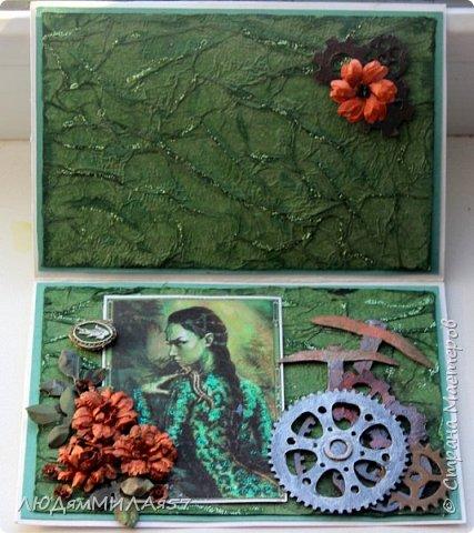 Здравствуйте всем!!!В продолжении темы Бажовских сказов ещё 2 открытки,надеюсь они вас тоже не разочаруют. фото 7