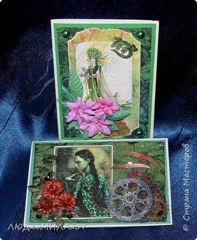 Здравствуйте всем!!!В продолжении темы Бажовских сказов ещё 2 открытки,надеюсь они вас тоже не разочаруют. фото 1