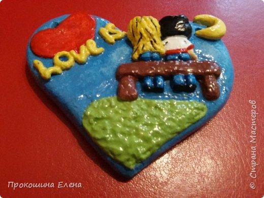 СУВЕНИР-МАГНИТ Love is...(соленое тесто) фото 4