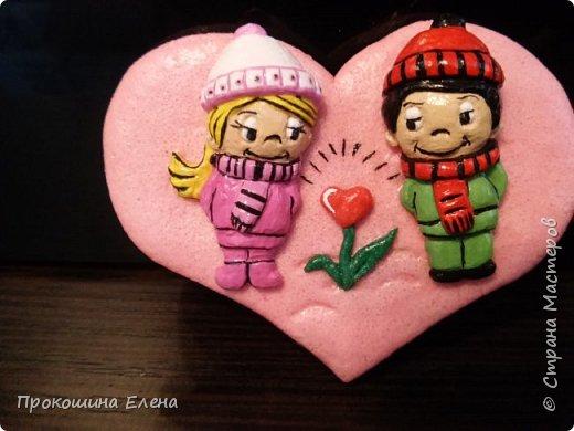 СУВЕНИР-МАГНИТ Love is...(соленое тесто) фото 3