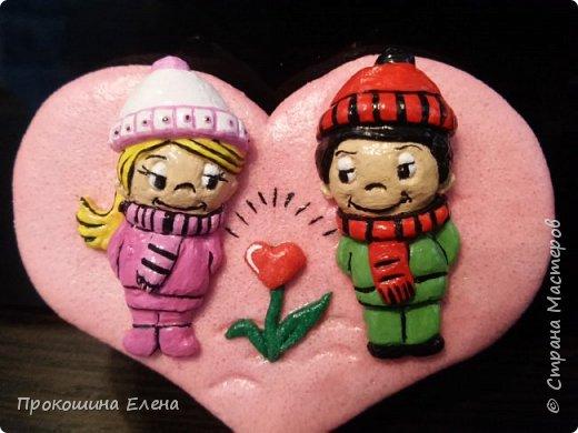 СУВЕНИР-МАГНИТ Love is...(соленое тесто) фото 1