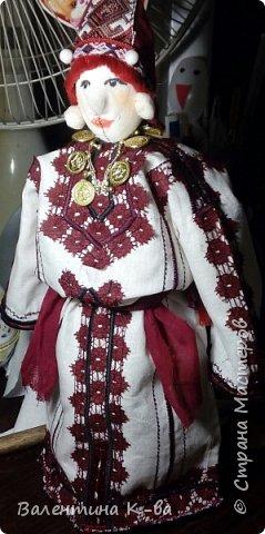 Тряпичная кукла-мордовочка