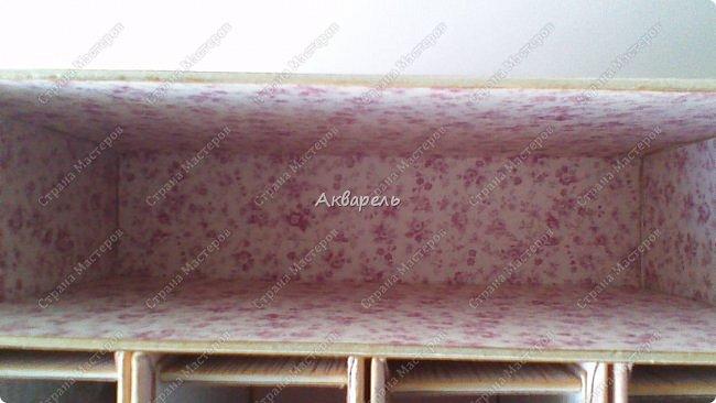 Органайзер номер два, был еще и третий чисто розовый, но не сфотографировала. Это для дочки. Сделала по ее желанию и вкусу. Мне кажется, удачное сочетание цвета и бумаги. Назвали его «балет». На изделие пошел картон пивной 1,5мм толщина, несколько листов скрапбумаги и бумага двусторонняя, клей. Клей использую UHU, хороший клей. фото 5