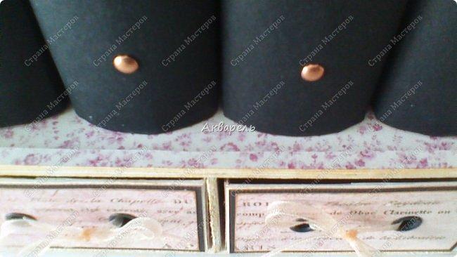 Органайзер номер два, был еще и третий чисто розовый, но не сфотографировала. Это для дочки. Сделала по ее желанию и вкусу. Мне кажется, удачное сочетание цвета и бумаги. Назвали его «балет». На изделие пошел картон пивной 1,5мм толщина, несколько листов скрапбумаги и бумага двусторонняя, клей. Клей использую UHU, хороший клей. фото 10