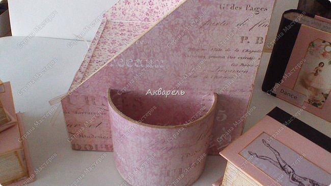 Органайзер номер два, был еще и третий чисто розовый, но не сфотографировала. Это для дочки. Сделала по ее желанию и вкусу. Мне кажется, удачное сочетание цвета и бумаги. Назвали его «балет». На изделие пошел картон пивной 1,5мм толщина, несколько листов скрапбумаги и бумага двусторонняя, клей. Клей использую UHU, хороший клей. фото 20
