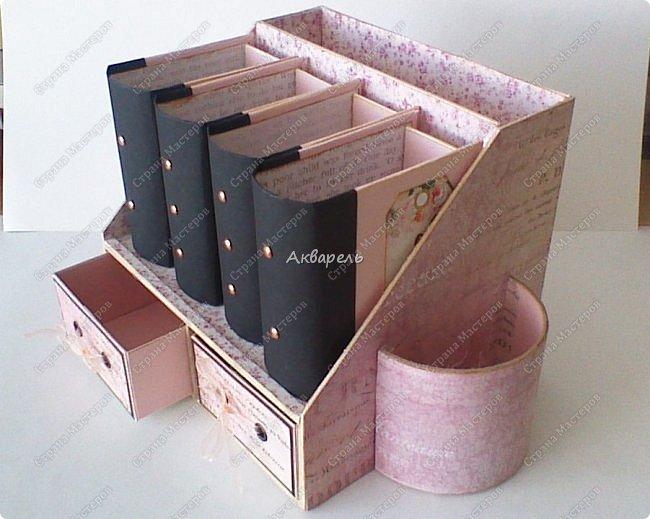 Органайзер номер два, был еще и третий чисто розовый, но не сфотографировала. Это для дочки. Сделала по ее желанию и вкусу. Мне кажется, удачное сочетание цвета и бумаги. Назвали его «балет». На изделие пошел картон пивной 1,5мм толщина, несколько листов скрапбумаги и бумага двусторонняя, клей. Клей использую UHU, хороший клей. фото 28