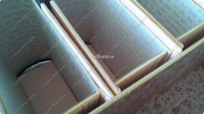 Органайзер номер два, был еще и третий чисто розовый, но не сфотографировала. Это для дочки. Сделала по ее желанию и вкусу. Мне кажется, удачное сочетание цвета и бумаги. Назвали его «балет». На изделие пошел картон пивной 1,5мм толщина, несколько листов скрапбумаги и бумага двусторонняя, клей. Клей использую UHU, хороший клей. фото 24