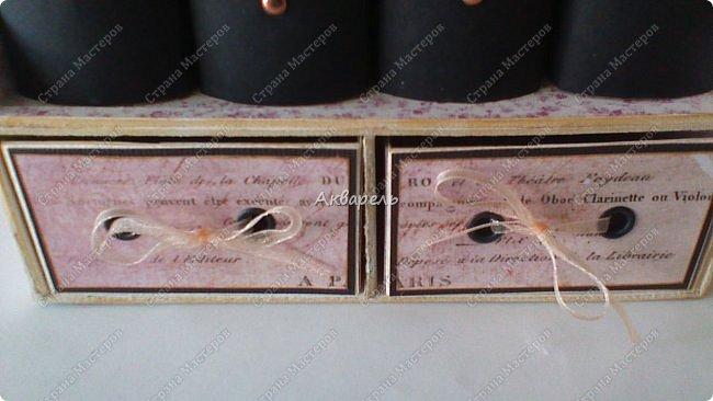 Органайзер номер два, был еще и третий чисто розовый, но не сфотографировала. Это для дочки. Сделала по ее желанию и вкусу. Мне кажется, удачное сочетание цвета и бумаги. Назвали его «балет». На изделие пошел картон пивной 1,5мм толщина, несколько листов скрапбумаги и бумага двусторонняя, клей. Клей использую UHU, хороший клей. фото 25