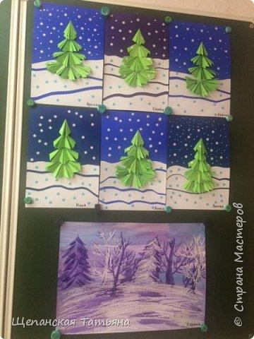 Рисовали мои четвероклашки: восковые мелки и акварель. фото 2