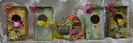 Приветствую Страну Мастеров!!!Эти подарки готовила к Пасхе.Конечно,красила и яйца разными хитроумными способами по урокам здешних Мастериц и другие поделки были,но вот фотографировать вечно забываем... Заготовки скворечника и птички из Фикс Прайса. фото 4