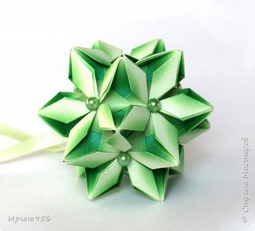Signum Схема http://www.kusudama.me/origami/Signum#Signum-60-200 60 модулей 5 х 5 см. Размер около 11 см. фото 10