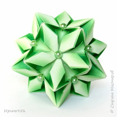 Signum Схема http://www.kusudama.me/origami/Signum#Signum-60-200 60 модулей 5 х 5 см. Размер около 11 см. фото 9