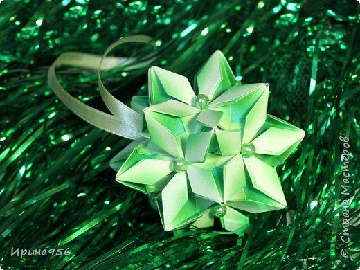 Signum Схема http://www.kusudama.me/origami/Signum#Signum-60-200 60 модулей 5 х 5 см. Размер около 11 см. фото 12