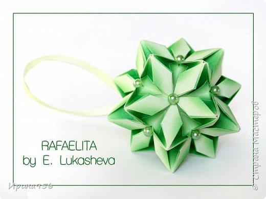 Signum Схема http://www.kusudama.me/origami/Signum#Signum-60-200 60 модулей 5 х 5 см. Размер около 11 см. фото 11