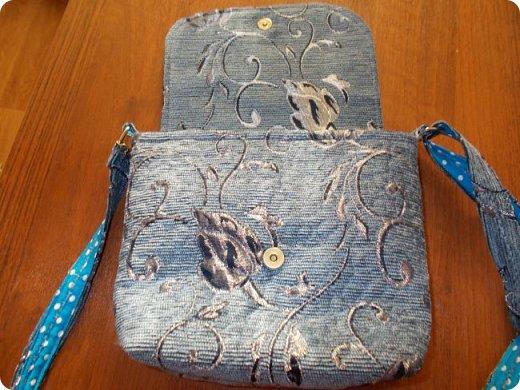 Вот такую сумочку на длинной ручке (регулируемой) сшила для юной леди. Ткань мебельная. фото 3