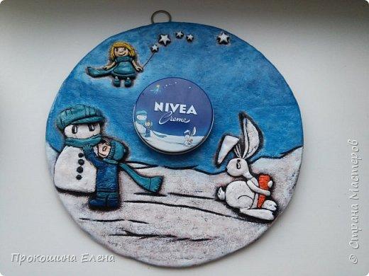 "Панно""NIVEA""(соленое тесто) фото 3"