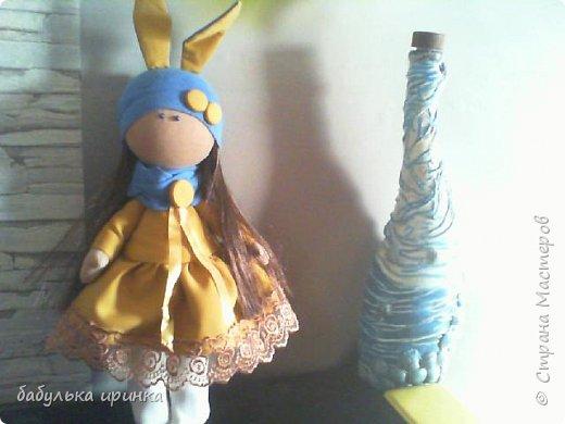 """Здравствуйте! Представляю новую куклеху """"Зая"""".Еще пока босая но уже будет скоро полностью готова! фото 1"""