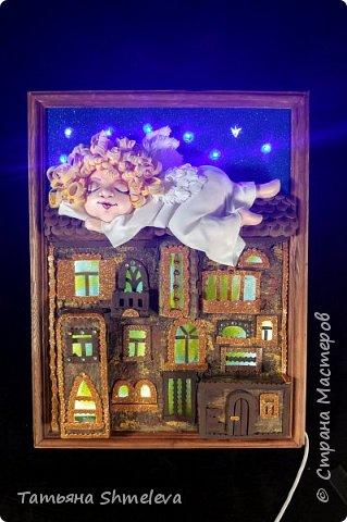 Картины-светильники в технике фом-арт фото 3