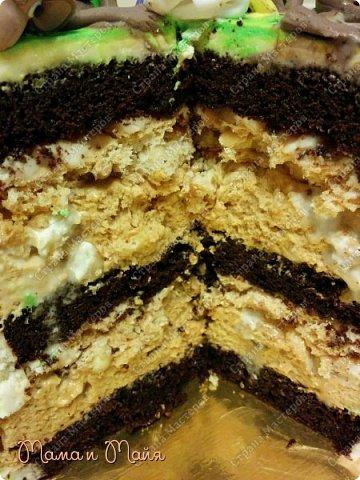 ДД! Представляю вашему вниманию торт Сникерс. Он, конечно, очень сильно замаскирован и так сразу не скажешь, но я отвечаю! В подтверждение смотрим следующее фото))) фото 3