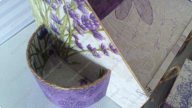 Органайзер номер четыре, я его назвала «Лаванда», по материалам все тоже самое. Просьба была исполнить в таком цвете, очень надеюсь что с цветом я попала в точку. Для девочки! Опять же без лишних украшений, на столе ребенку они не к чему пожалуй. Но все таки он девчачий! Это видно. Свеженький. Я люблю лаванду, я же крымская все таки.))))) фото 14
