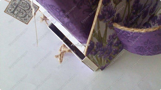 Органайзер номер четыре, я его назвала «Лаванда», по материалам все тоже самое. Просьба была исполнить в таком цвете, очень надеюсь что с цветом я попала в точку. Для девочки! Опять же без лишних украшений, на столе ребенку они не к чему пожалуй. Но все таки он девчачий! Это видно. Свеженький. Я люблю лаванду, я же крымская все таки.))))) фото 18
