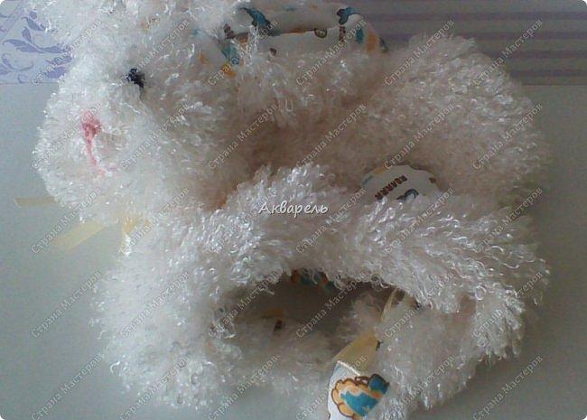 Зайка-засыпайка, уютная и комфортная игрушка для малышей. Тельце не набивается наполнителем, только лапки. Голова с наполнителем. Мордочка вышита нитками, уж как получилась. Для малышей нельзя всякие бусинки и пуговки. фото 10