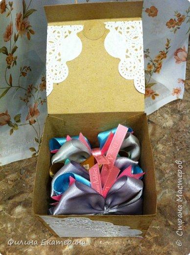 Вот такие коробочки я сделала в качестве упаковки для моих бантиков. фото 2