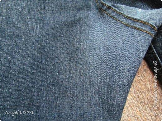 Мастер класс - реставрация джинсов фото 4