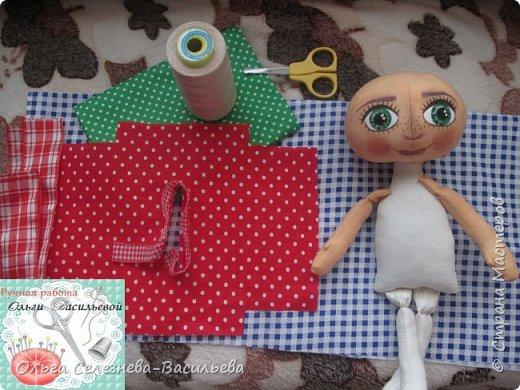 Всем привет! Хочу представить на ваш суд, мой вариант текстильной куклы. Это домовенок. фото 6
