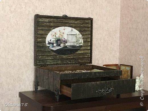 Старинный ларец из чемодана от столовых приборов фото 2