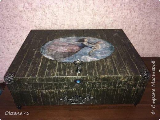 Старинный ларец из чемодана от столовых приборов фото 1