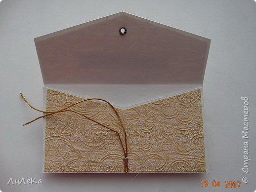 Попросили сделать конвертик для денежного подарка. Сделала три на выбор... фото 4